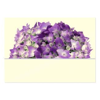 El Hydrangea púrpura florece tarjetas del lugar de Tarjeta De Visita