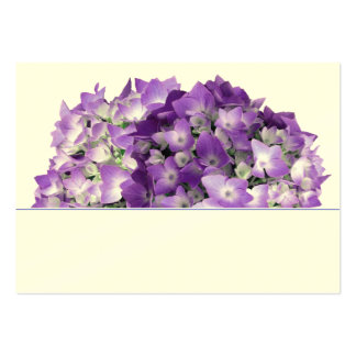El Hydrangea púrpura florece tarjetas del lugar Tarjetas De Visita Grandes