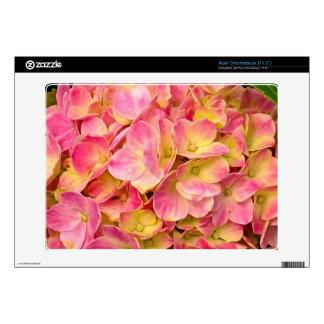 El Hydrangea rosado florece la piel de Acer Chrome Acer Chromebook Skins