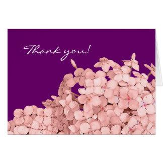 El Hydrangea rosado le agradece Tarjeta Pequeña
