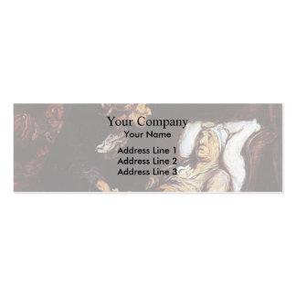 El Hypochondriac de Honore Daumier Plantillas De Tarjetas Personales