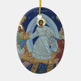 El icono de la resurrección del señor Jesucristo Ornamentos De Navidad