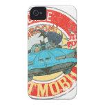 El icono increíble de Batmobile iPhone 4 Case-Mate Carcasas