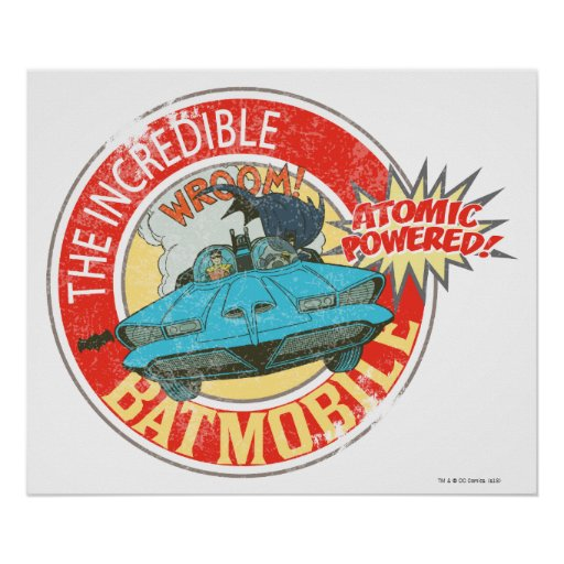 El icono increíble de Batmobile Póster