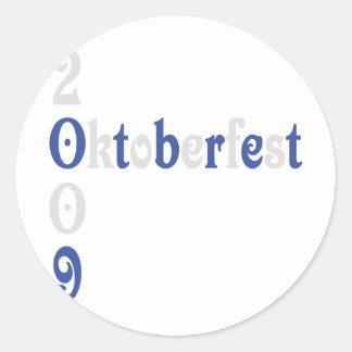 el icono más oktoberfest 2009 etiquetas redondas