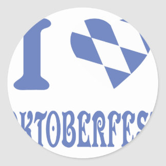 el icono más oktoberfest del amor del azul I Pegatina Redonda