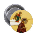 El icono ruso del Virgen María Chapa Redonda 5 Cm
