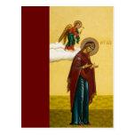 El icono ruso del Virgen María Tarjeta Postal