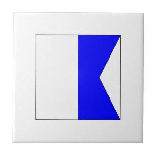 El ICS señala A por medio de una bandera Azulejo Cuadrado Pequeño