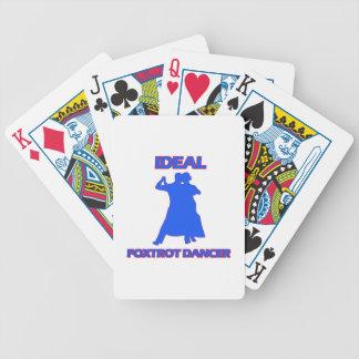 el ideal foxtrot los diseños del bailarín baraja cartas de poker