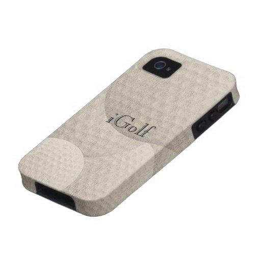 el iGolf para el golf aviva el caso del iPhone iPhone 4 Funda
