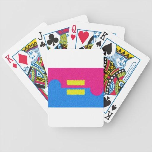 El igual endereza el logotipo, el estilo del impre barajas de cartas