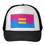 El igual endereza el logotipo, el estilo del impre gorras