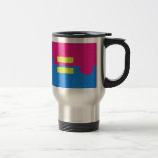 El igual endereza el logotipo, el estilo del impre tazas