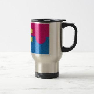 El igual endereza el logotipo, el estilo del taza de viaje de acero inoxidable