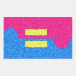 El igual endereza el logotipo pegatina del estilo