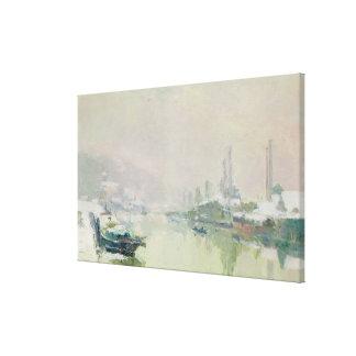 El Ile Lacroix debajo de la nieve, 1893 Impresion En Lona