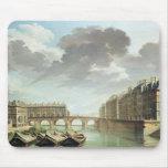 El Ile St. Louis y el Pont Marie en 1757 Tapete De Ratones