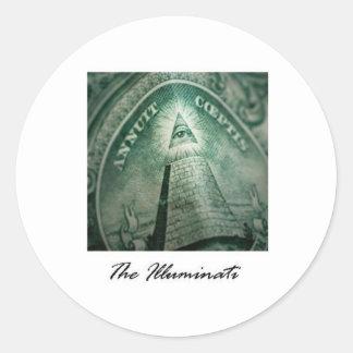 El Illuminati Pegatina Redonda