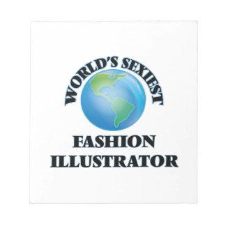 El ilustrador más atractivo de la moda del mundo libreta para notas