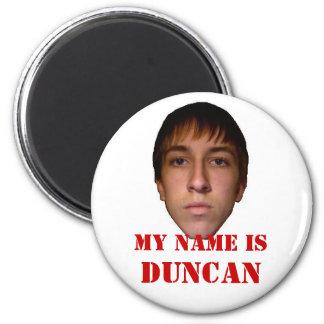 El imán 2010 del refrigerador, mi nombre es Duncan