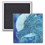 El imán azul del cuadrado del dragón por Renee