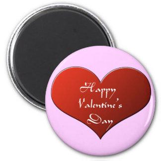 El imán de la tarjeta del día de San Valentín