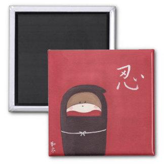 El imán de Ninja del mono del calcetín