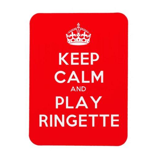 """El imán de Ringette """"guarda rojo del juego tranqui"""