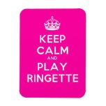 """El imán de Ringette """"guarda rosa del juego tranqui"""