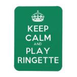 """El imán de Ringette """"guarda verde del juego tranqu"""