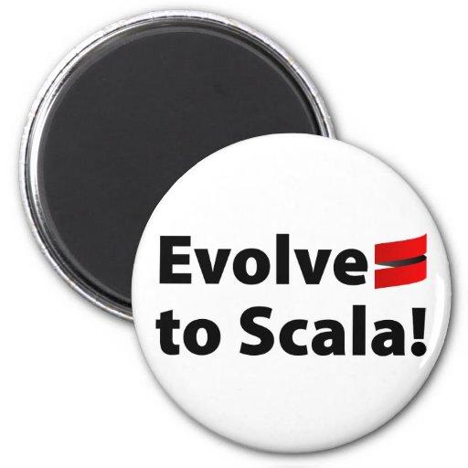 El imán de Scala, desarrolla el logotipo