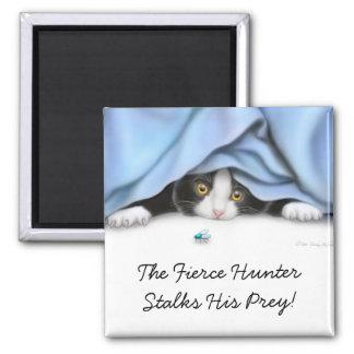 El imán del gato del cazador de la mosca