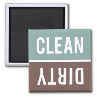 El imán del lavaplatos LIMPIA el | SUCIO - gris