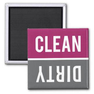 El imán del lavaplatos LIMPIA el | SUCIO - gris de