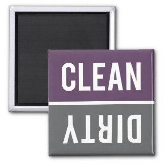 El imán del lavaplatos LIMPIA el | SUCIO - púrpura