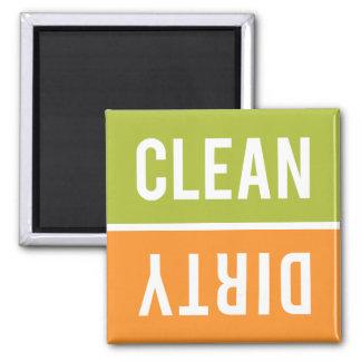 El imán del lavaplatos LIMPIA el | SUCIO - verde y