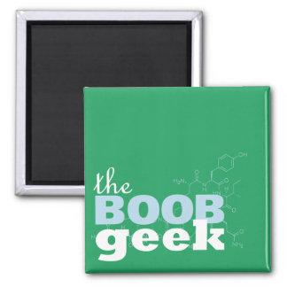 El imán del logotipo del friki del Boob