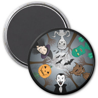El imán del monstruo de Halloween