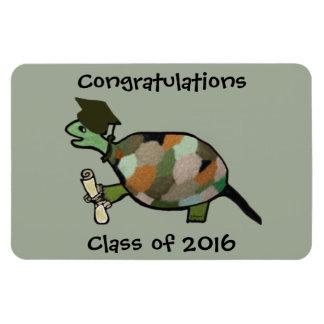 El imán del premio del graduado de la tortuga
