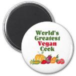 El imán más grande del cocinero del vegano del mun