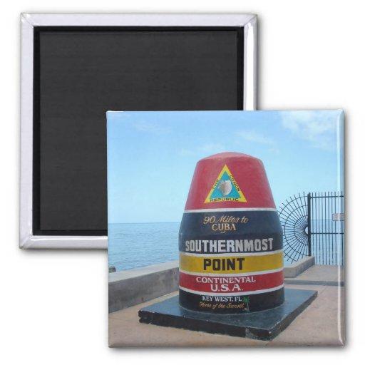 El imán más situado más al sur de Key West la Flor