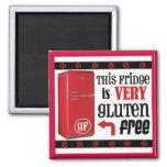 El imán muy Gluten-Libre del refrigerador
