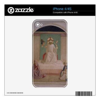 El imitar de Cristo con la Virgen y el St. Domi Skin Para El iPhone 4S