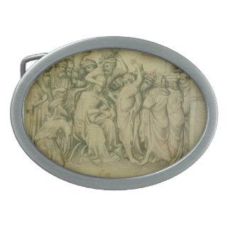 El imitar de Cristo de los hermanos de Limbourg Hebillas Cinturon Ovales