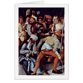 El imitar de Cristo de Mathis Grunewald Gothart Tarjeta