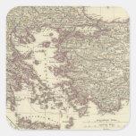 El imperio bizantino hasta el Xite Pegatina Cuadrada