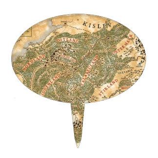 El imperio - mapa del mundo figuras de tarta