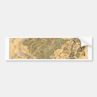 El imperio - mapa del mundo etiqueta de parachoque