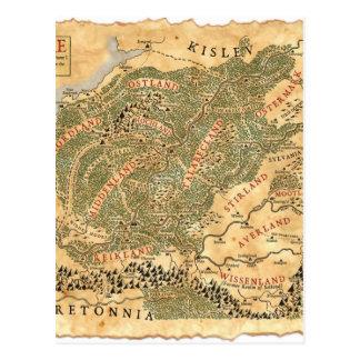 El imperio - mapa del mundo tarjeta postal